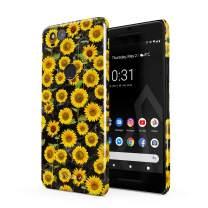 BURGA Phone Case Compatible with Google Pixel 2 - Yellow Sunflowers Vinatge Flowers Floral Print Pattern Fashion Designer Cute Case for Women Thin Design Durable Hard Plastic Protective Case