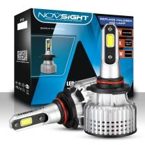 NOVSIGHT 9005 HB3 LED Headlight Bulbs 10000LM (2x5000LM) 72W(2x36W) 6500K Cool White - 2 Year Warranty