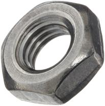 """18-8 Stainless Steel Hex Jam Nut, Plain Finish, ASME B18.2.2, 1""""-8 Thread Size, 1-1/2"""" Width Across Flats, 35/64"""" Thick (Pack of 5)"""