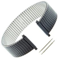 Gilden Custom Length Gents Expansion 17-22mm Black Stainless Steel Watch Band 552-B