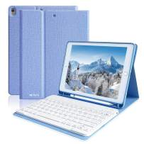iPad Pro 10.5 Keyboard Case for iPad Air 3rd Gen/iPad Pro 10.5 2017, Magnetic Protective Cover iPad Air 10.5 Case with Detachable BT Keyboard, iPad Air 3 Keyboard Case with Pencil Holder(Sky Blue)