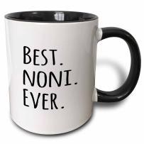 3dRose Best Noni Ever Mug, 11 oz, Black