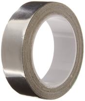 """TapeCase Silver Aluminum Foil Tape with Conductive Acrylic Adhesive, Converted from 3M 1120, 36 yd Length, 1.125"""" Width, Roll"""