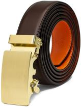 """AOG DESIGN Genuine Leather Dress Belt (1 1/4"""" wide) with Solid Automatic Buckle"""