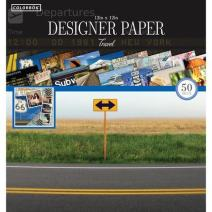"Colorbok 68239C Designer Paper Pad Destinations, 12"" x 12"""