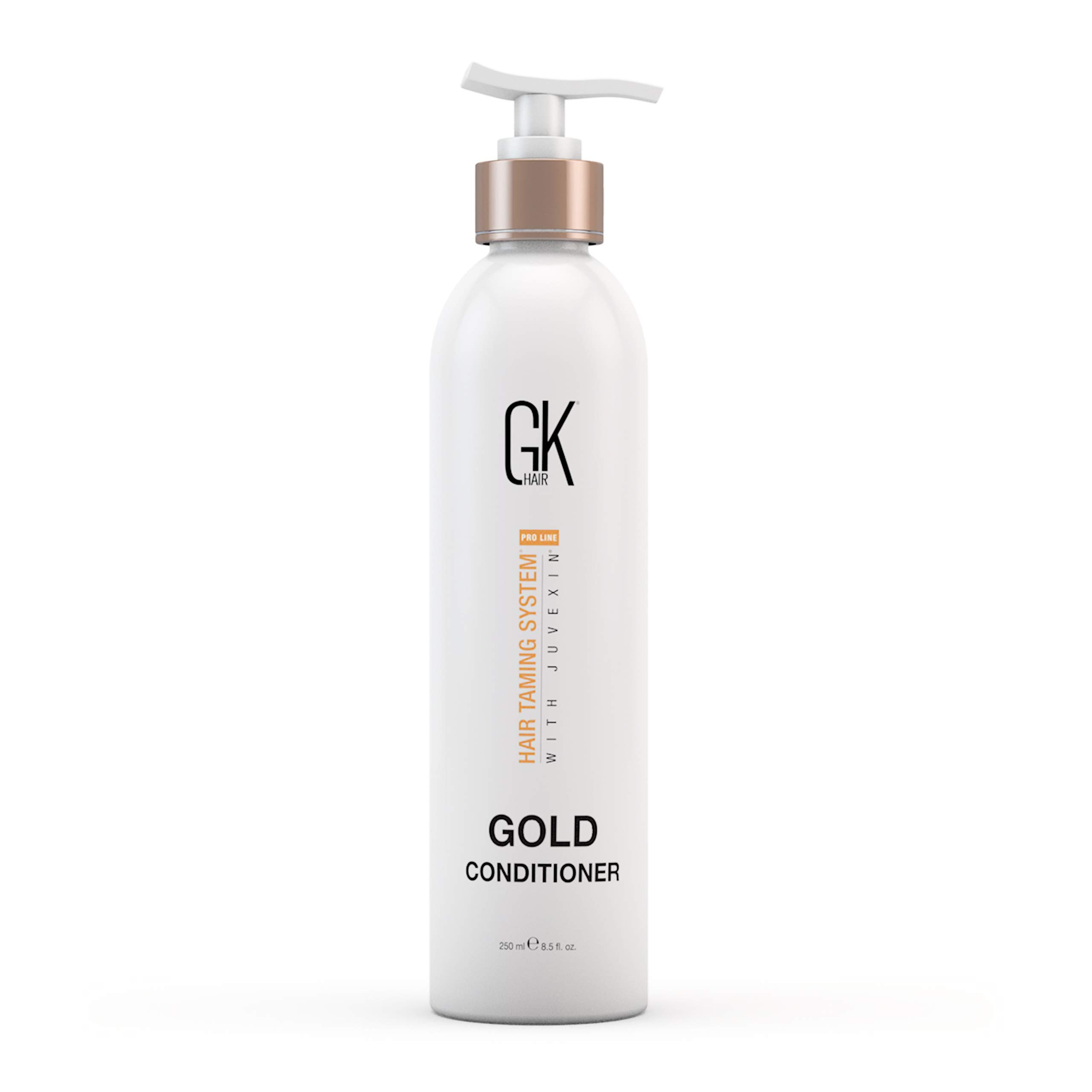 Global Keratin GKhair Gold Conditioner (250ml/ 8.5 fl. oz) | Hair Moisturizing/ Shine and Protection With Argan Oil, Shea Butter, Natural Oils | All Hair Types