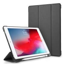 iPad 9.7 2018/2017 Case with Pencil Holder, Yunerz Shockproof Full-Body Protective Leather Case with Auto Wake/Sleep Function, Compatible iPad 9.7 inch 6th/5th Generation/iPad Air 1/2 (Black)