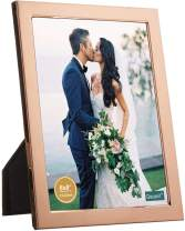 decanit 6x8 Picture Frames Rose Gold Metal Photo Frames for Tabletop Display and Wall Decoration-Best Gifts for Family