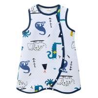 JunNeng Toddler Baby Sleeveless Sleep Bag Cotton Wearable Blankets,Early Walker Boy Girl Warm Sleepsuit Sleepwear Dinosaur