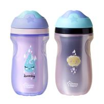 Tommee Tippee Insulated Non-Slip Spill Proof Sipper Tumbler, BPA-Free, Girl, Pink & Purple, 9 Ounce, 2 Count