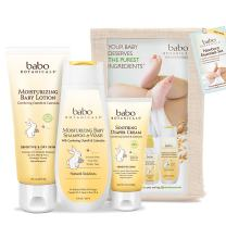 Babo Botanicals Newborn Essentials Set with Organic Calendula and Colloidal Oatmeal, Hypoallergenic, Perfect Baby Shower Gift - 3-Pack
