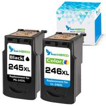 InkWorld Remanufactured 245XL 246XL Ink Cartridge Replacement for Canon PG-245 CL-246 XL to Use with Pixma MG2520 TR4520 TS302 TS3120 TS202 MG2920 MG2922 MX492 MG2525 Printer (Black Tri-Color) 2-Pack