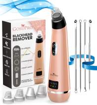 Blackhead Remover Pore Vacuum Cleaner - GosuPro Electric Pore Cleanser - Pimple Popper Tool Kit - USB Rechargeable Acne Comedone Extractor with 5 Replaceable Probes & 5 Suction Power