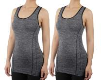 iloveSIA 2 Packs Sport Racerback for Women Supportive Workout Yoga Tank Tops