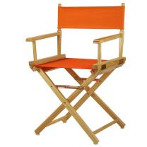 """Casual Home 18"""" Director's Chair Natural Frame with Tangerine Canvas"""