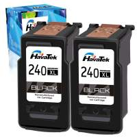 HavaTek Remanufactured 240 XL Black Ink Cartridge Replacement for Canon 240XL PG-240XL Used for Canon PIXMA MG3620 MG3520 TS5120 MX532 MX472 MX452 MG3220 MG2120 MX432 Printer (2 Black, 2 Pack)