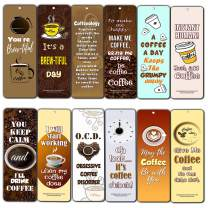Creanoso Inspiring Inspirational Words About Coffee Lovers Bookmarker Series II (30-Pack) – Powerful Sayings About Character – Stocking Stuffers Gift for Men Women Adult