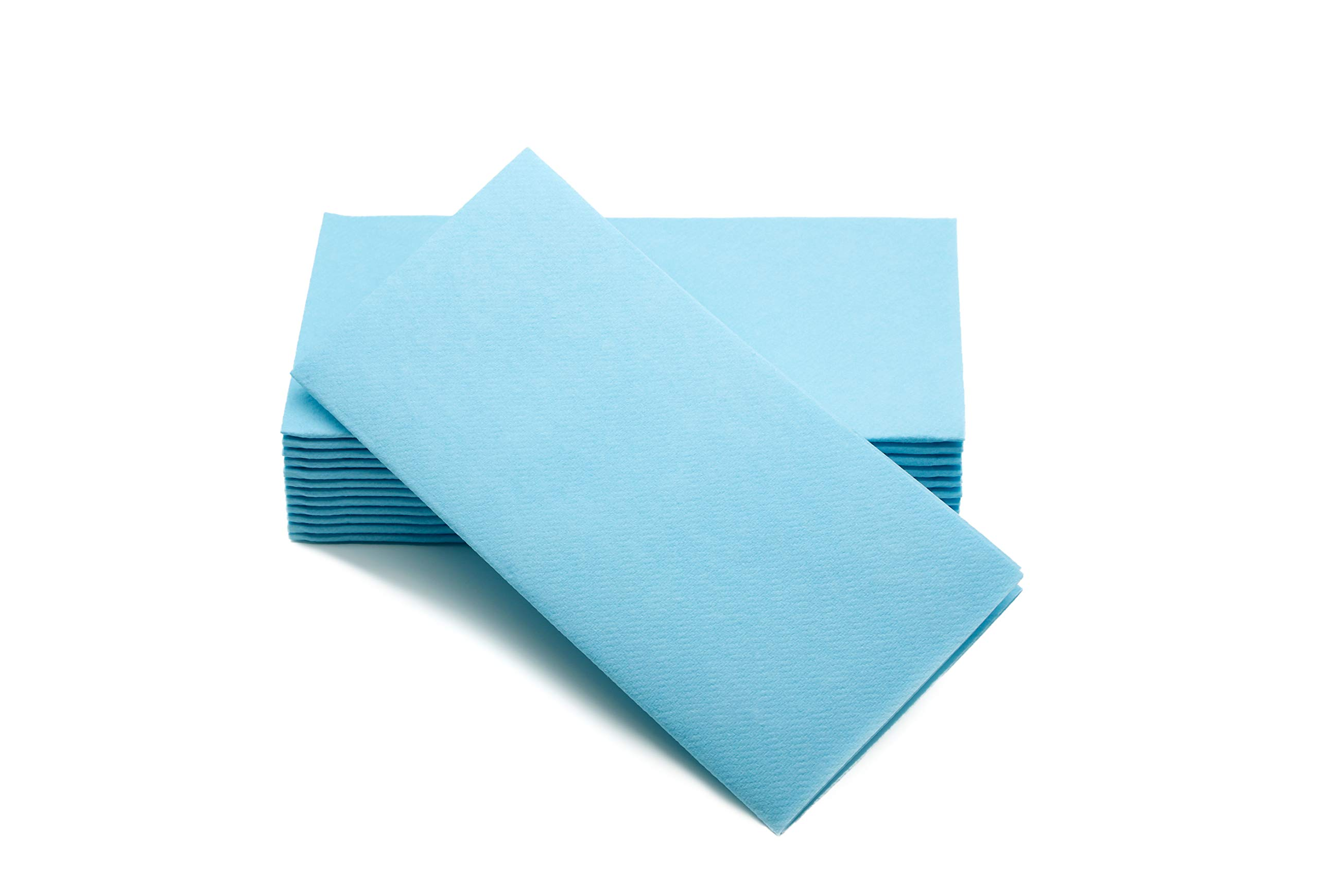 """Simulinen Colored Napkins - Decorative Cloth Like & Disposable, Dinner Napkins - Sky Blue - Soft, Absorbent & Durable - 16""""x16"""" - Great for Any Occasion! - Box of 50"""