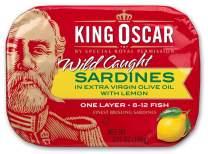 King Oscar Sardines In Extra Virgin Olive Oil With Lemon, 3.75 Oz (Pack Of 12)