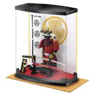 "Samurai Figure Series A4 Tokugawa Ieyasu Armor, Dust Proof Transparent Box Height 8.3"", with Real Katana(Sword), in Study Office and Living Room, Like Ninja Bushido for Japan Gifts"