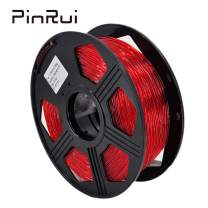PINRUI TPU 3D Printer Filament, Flexible Filament 1.75mm, 100% Virgin Raw Material, Dimensional Accuracy +/- 0.03 mm, 0.8kg Spool (Red)