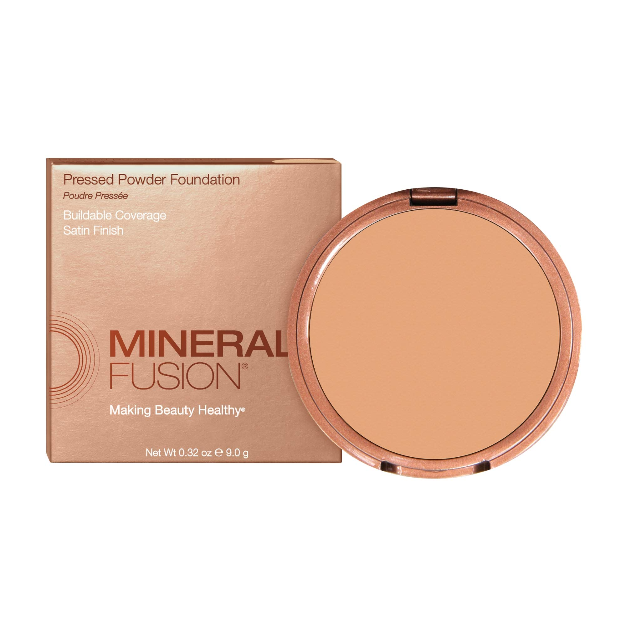 Mineral Fusion Pressed Powder Foundation, Deep 1 (Packaging May Vary)