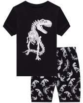 Boys Pajamas Dinosaur Space Short Toddler Clothes Kids Pjs Sleepwear Summer Shirts
