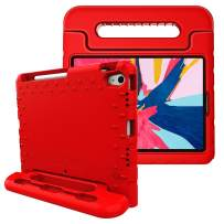 Fintie Case for iPad Pro 11 Inch 1st Generation 2018 [Supports 2nd Gen Pencil Charging Mode] - Kiddie Series Light Weight Shock Proof Kids Friendly Protective Stand Cover with Pencil Holder, Red