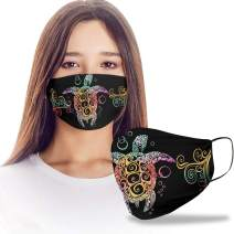 VTH Global Colorful Sea Turtle Design Print Cloth Reusable Washable Face Mask Women Men for Dust Protection