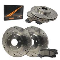 [Front + Rear] Max Brakes Premium XDS Rotors with Carbon Ceramic Pads KT039933