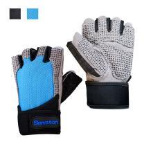 Senston Half Finger Sport Gloves Cycling Mountain Road Bike Racing Bicycle Gloves Wheelchair Exercise Sport Gym Fitness Gloves for Men Women
