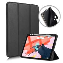 Gzerma Case for iPad Pro 11 Case with Apple Pencil Holder, Support Wireless Charging, Slim Light with Magnetic Auto Sleep/Wake Case of iPad Pro 11 2018