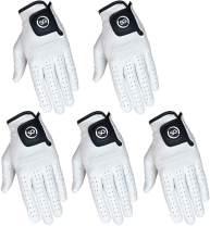 Pack of 5 Men White Cabretta Leather Golf Gloves Regular and Cadet Sizes