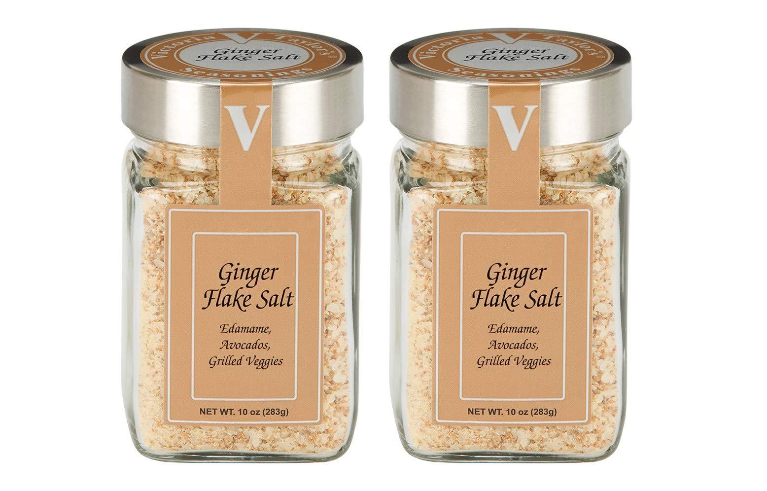 Ginger Flake Salt 2 Pack - Use on chicken, fish, and vegetables.