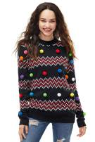 Women's Christmas Sweater Ugly Pullover Glitter Lights Funny Santa Reindeer Fair Isle