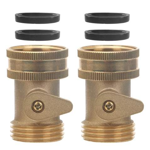 Heavy Duty Garden Hose Shut-Off Valve Metal Shutoff Water Connector Brass Single