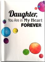 "Blue Mountain Arts Little Keepsake Book""Daughter, You Are in My Heart Forever"" 4 x 3 in. Sentimental Pocket-Sized Birthday, Graduation, Christmas, or ""I Love You"" Gift Book from Mom or Dad"