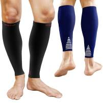 BAMS 2 Pairs Premium Bamboo Calf Compression Sleeve X-Large - Graduated Fit Toeless Leg Socks for Running, Shin Splints, Recovery, Travel, Pain Relief