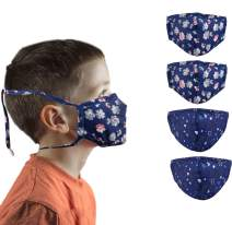 4PCS Novelty Design Adjustable Holders Around Kids Face Mask with Long Lanyard for Kids Washable Reusable