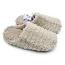 Silkgrace Women's/Men's Comfort Shu Velveteen Lining Cozy Velvet Slippers Lightweight Leather Soft Sole