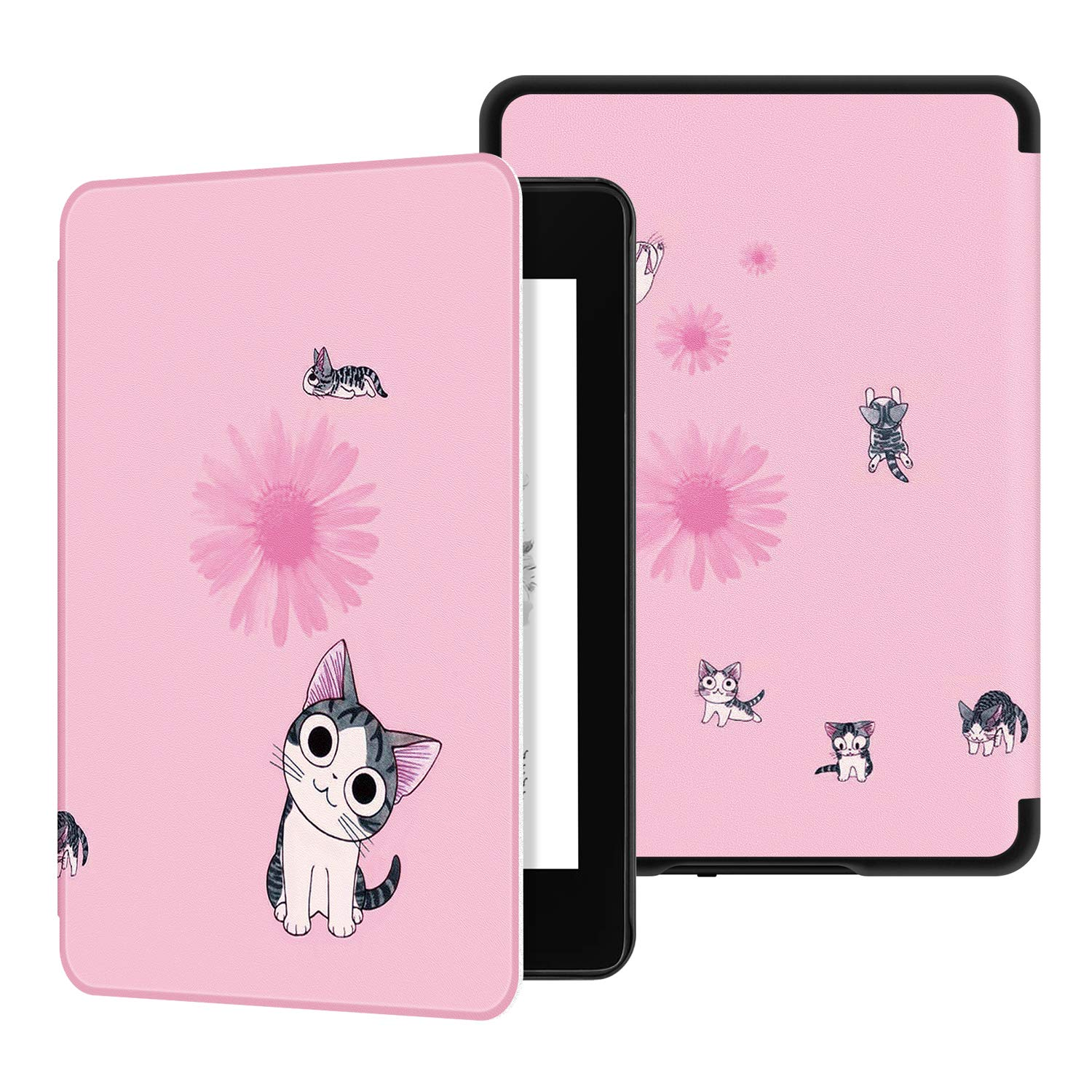 Ayotu Water-Safe Case for Kindle Paperwhite 2018 - PU Leather Smart Cover with Auto Wake/Sleep-Fits Amazon The Latest Kindle Paperwhite Leather Cover (10th Generation-2018),K10 The Fantasy Cat