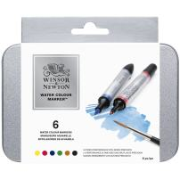 Winsor & Newton Water Colour Brush Markers, Set of 6