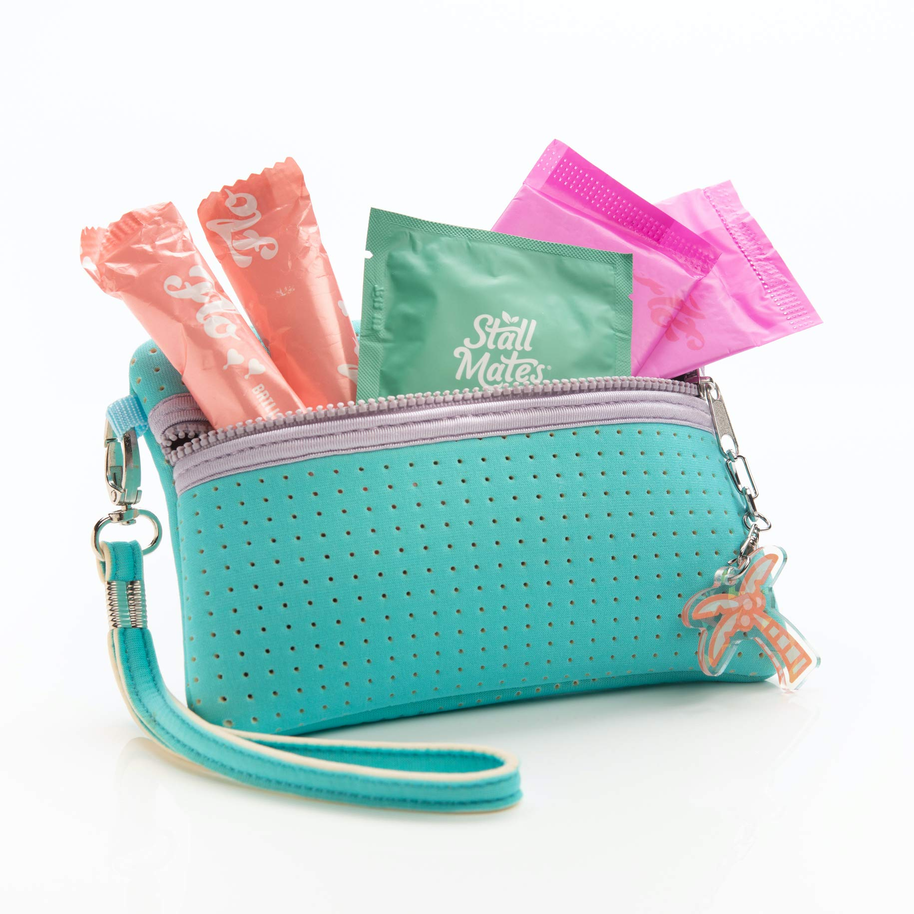First Period Kit for Teens & Tweens - Teen Girl Gift - Includes 2 Organic Cotton Tampons, 2 Organic Cotton Pantyliners, 1 Hypoallergenic Wet Wipe