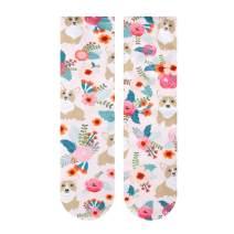 Zmart Space Cat Paw Socks, Cool Funny Fish Scale Mermaid Pug Corgi 3D Print Socks, Gag Gift for Women Girls
