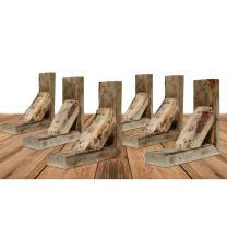 "Ekena Millwork BKTB03X10X12TRUF-CASE-6 Barn Wood Decor Collection Vintage Farmhouse Bracket (6 Pack), 3 1/2""W x 10""D x 12""H, Natural Barnwood"