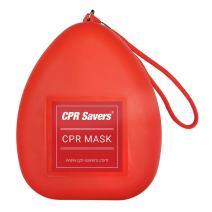 CPR Savers, Adult/Child Pocket Resuscitator, Hard Case with Wrist Strap (RED)