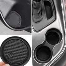 Auovo Non-SlipAnti-dustInteriorCustomFitCup DoorCenterConsoleLinerAccessoriesfor2015 2016 2017 2018 2019 2020 Dodge Challenger 11pcs (Black)