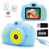 Kids Digital Camera for Girls Boys, Best Birthday Gifts for 3-8 Year Olds Girls Boys,Toys for Girls Boys Age 4 5 6 7 8,Kids Video Camera Recorder Camera Shockproof 8MP HD Toddler Cameras (32GB)