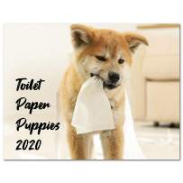 """Calendar 2020, 2020 Wall Calendar with Thick Paper, 17"""" x 11.3"""" (Open), January - December 2020 - Toilet Paper Puppies"""