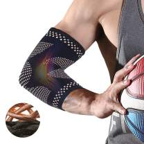 CFR Elbow Compression Support Sleeves Copper Nylon Elbow Braces Tendonitis, Tennis, Golfer Elbow Treatment, Weightlifting Joint Pain Relief